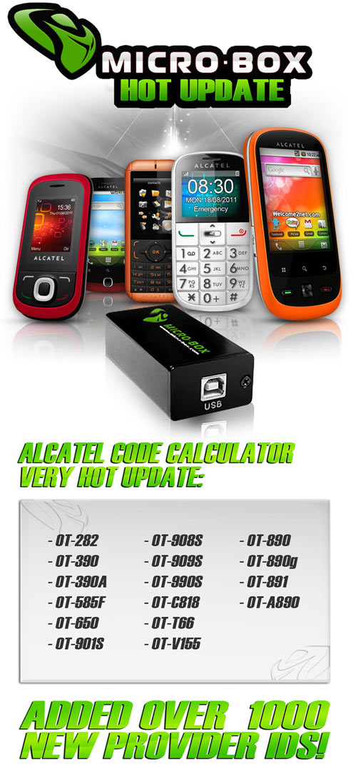ALCATEL CODE CALCULATOR VERY HOT UPDATE: